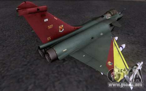 Dassault Rafale M para visión interna GTA San Andreas