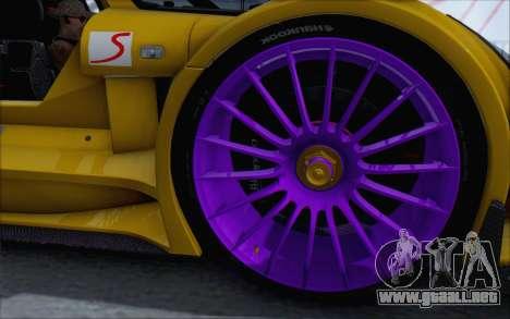Gumpert Apollo S Autovista para la visión correcta GTA San Andreas