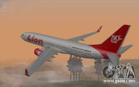 Lion Air Boeing 737 - 900ER para GTA San Andreas left