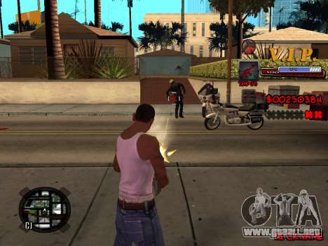 C-HUD VIP para GTA San Andreas sexta pantalla