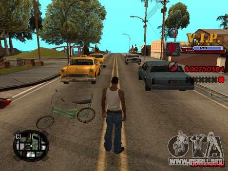 C-HUD VIP para GTA San Andreas sucesivamente de pantalla