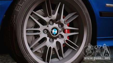 BMW E39 M5 2003 para visión interna GTA San Andreas