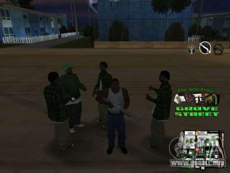 С-HUD Grove Street para GTA San Andreas quinta pantalla