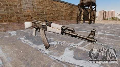 El AK-47 Chrome para GTA 4