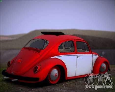Volkswagen Beetle Stance para GTA San Andreas vista posterior izquierda