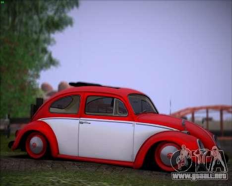 Volkswagen Beetle Stance para GTA San Andreas left