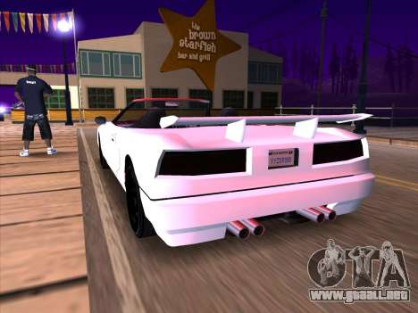 New Infernus para GTA San Andreas vista hacia atrás