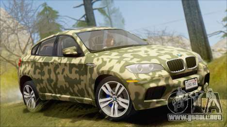 BMW X6M E71 2013 300M Wheels para GTA San Andreas interior