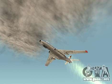 Tu-Un para GTA San Andreas vista hacia atrás