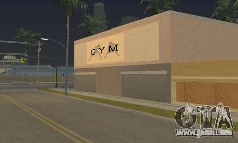 New gym para GTA San Andreas tercera pantalla