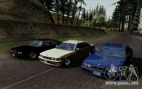 BMW 540i (E34) para visión interna GTA San Andreas