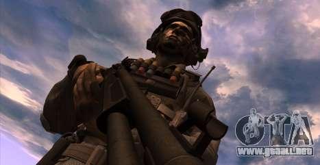 Teniente David Hesh Walker из De Call of Duty: G para GTA San Andreas tercera pantalla