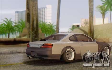 Nissan Silvia S15 Fail Camber para GTA San Andreas vista posterior izquierda