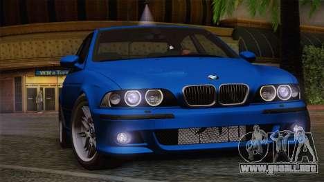 BMW E39 M5 2003 para la vista superior GTA San Andreas