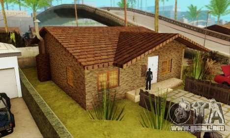 Nuevas texturas de la casa de Denis para GTA San Andreas segunda pantalla