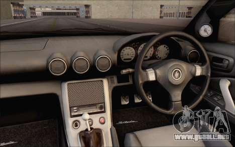 Nissan Silvia S15 Fail Camber para visión interna GTA San Andreas