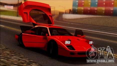 Ferrari F40 1987 para la vista superior GTA San Andreas