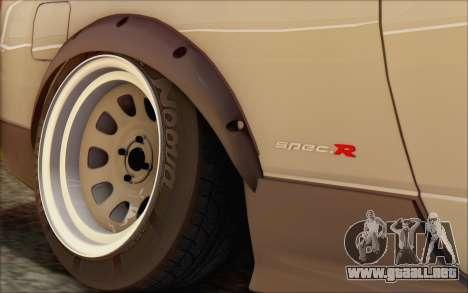 Nissan Silvia S15 Fail Camber para GTA San Andreas vista hacia atrás