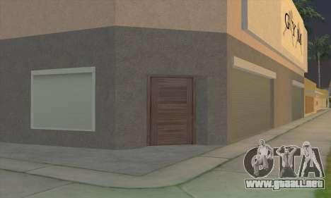 New gym para GTA San Andreas quinta pantalla