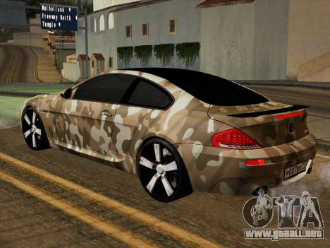 BMW M6 Hamann para la vista superior GTA San Andreas