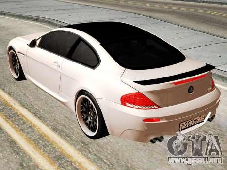 BMW M6 Hamann para GTA San Andreas vista posterior izquierda