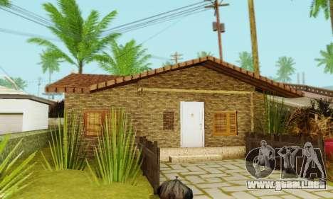Nuevas texturas de la casa de Denis para GTA San Andreas quinta pantalla