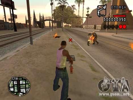 C-HUD Energy para GTA San Andreas segunda pantalla
