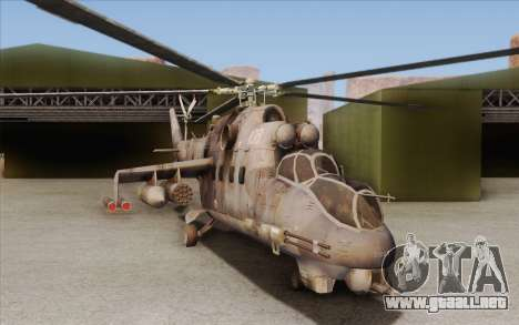 Mi-24D Hind from Modern Warfare 2 para GTA San Andreas left