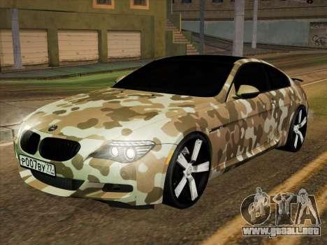 BMW M6 Hamann para vista lateral GTA San Andreas