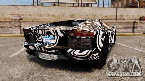 Lamborghini Aventador LP700-4 2012 [EPM] Circle para GTA 4 Vista posterior izquierda