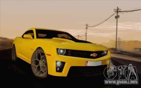 Chevrolet Camaro ZL1 2011 para visión interna GTA San Andreas