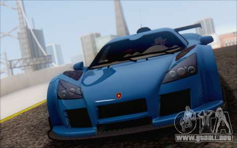 Gumpert Apollo S Autovista para la vista superior GTA San Andreas