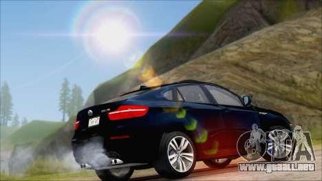 BMW X6M E71 2013 300M Wheels para GTA San Andreas vista hacia atrás