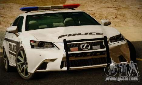 Lexus GS350 F Sport Series IV Police 2013 para GTA San Andreas