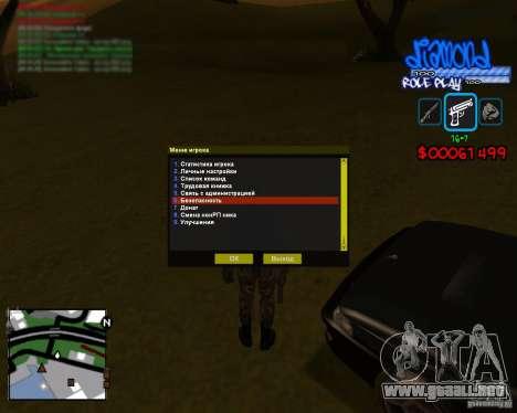 C-Hud Diamond RP para GTA San Andreas segunda pantalla