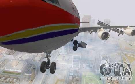 Airbus A340-300 China Eastern para GTA San Andreas vista hacia atrás