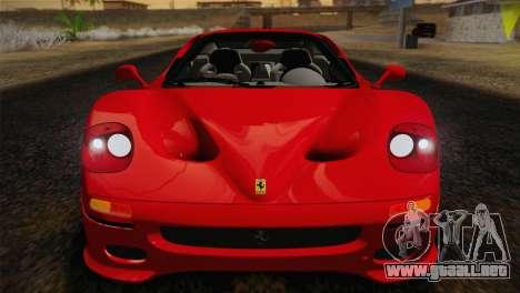Ferrari F50 1995 para GTA San Andreas vista hacia atrás