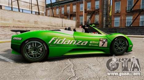 Pagani Zonda C12 S Roadster 2001 PJ6 para GTA 4 left