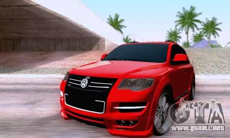 Volkswagen Touareg Mansory para GTA San Andreas vista posterior izquierda