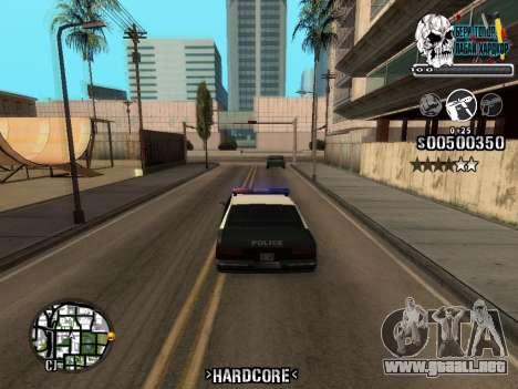 C-HUD Hardcore By KD para GTA San Andreas