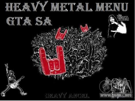 Heavy Metal Menu V.1 para GTA San Andreas