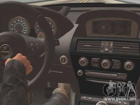 BMW M6 Hamann para visión interna GTA San Andreas