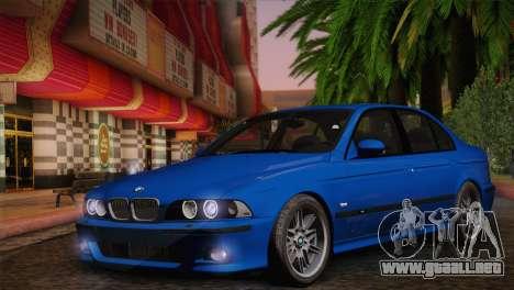 BMW E39 M5 2003 para la visión correcta GTA San Andreas