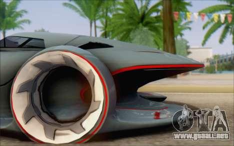 Mercedes-Benz SilverArrow para GTA San Andreas vista posterior izquierda
