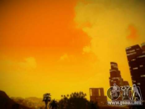 SkyBox Arrange - Real Clouds and Stars para GTA San Andreas sucesivamente de pantalla