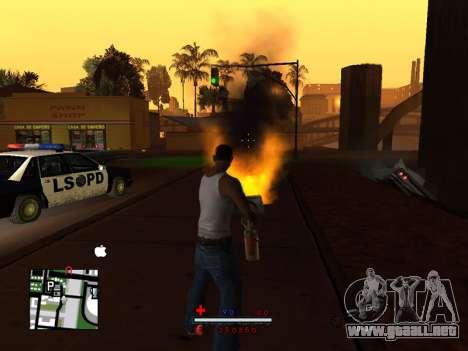 C-HUD by SaMoGoN para GTA San Andreas segunda pantalla