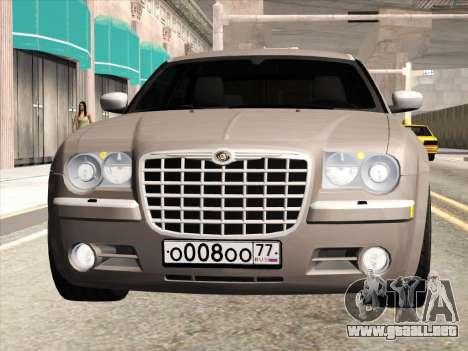 Chrysler 300C 2009 para GTA San Andreas vista posterior izquierda