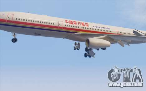 Airbus A340-300 China Eastern para vista lateral GTA San Andreas