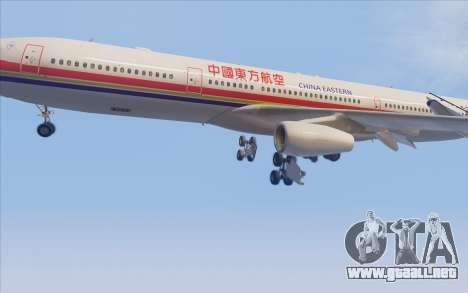 Airbus A340-300 China Eastern para vista lateral GTA San Andreas