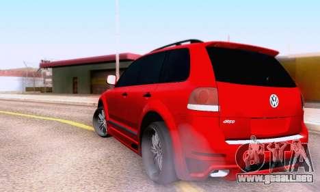 Volkswagen Touareg Mansory para GTA San Andreas vista hacia atrás